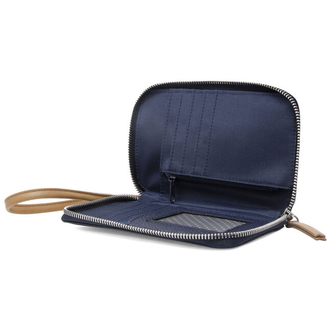 Plain Sailing North South Wallet-On-A-String Convertible Wristlet,Pure Dark Pacific Wash,large