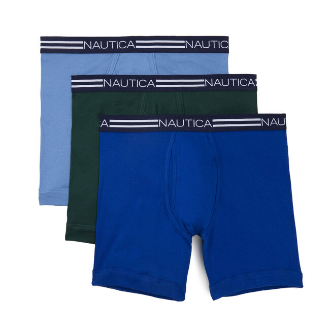 Classic Boxer Briefs, 3-Pack,Capri Blue,large