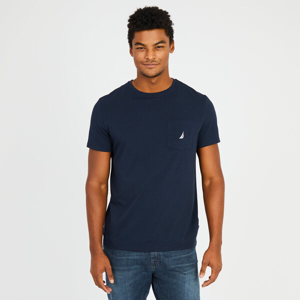 Big & Tall Active Stretch Pocket T-Shirt - Navy