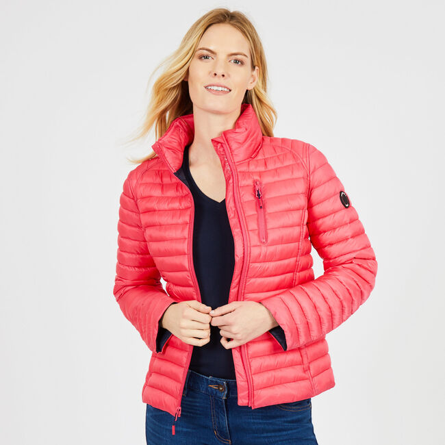 Lightweight Packable Puffer Jacket,Downhill Red,large