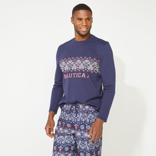MEN'S FAIR ISLE FAMILY SLEEP SET - Pure Dark Pacific Wash