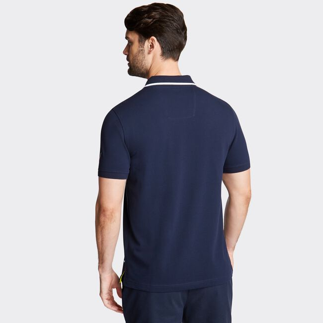 SLIM FIT STRETCH POLO IN RACER STRIPE ,Pure Dark Pacific Wash,large