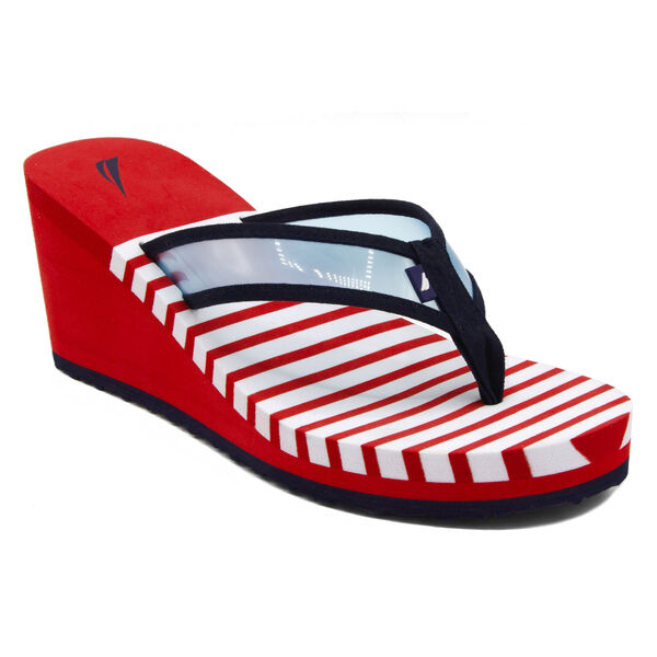 Tinley Wedge Sandals - Tango Red