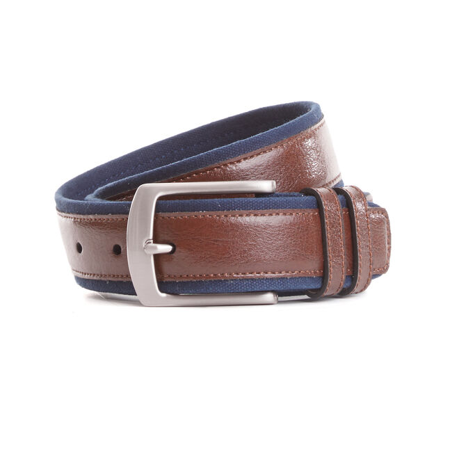 Canvas Trim Belt,Pure Dark Pacific Wash,large