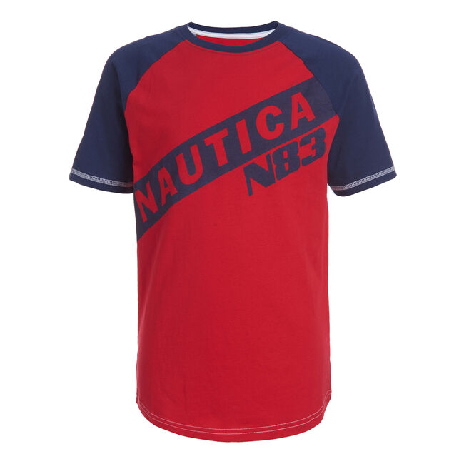 BOYS' KENT BASEBALL LOGO TEE (8-20),Melonberry,large