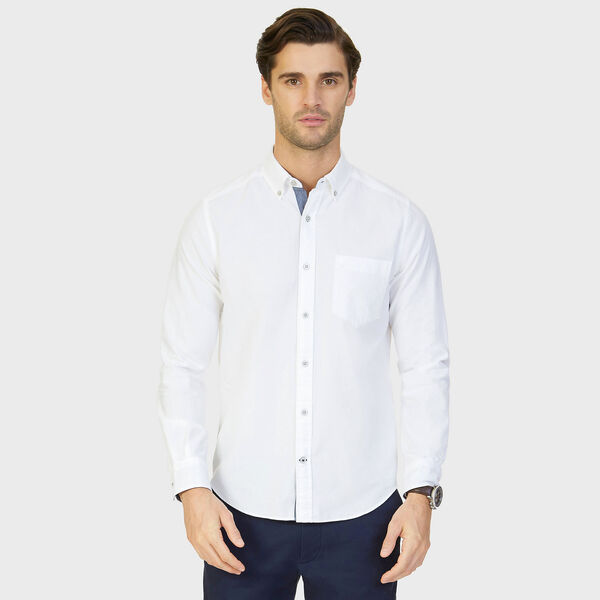 TWILL OXFORD SHIRT - Bright White