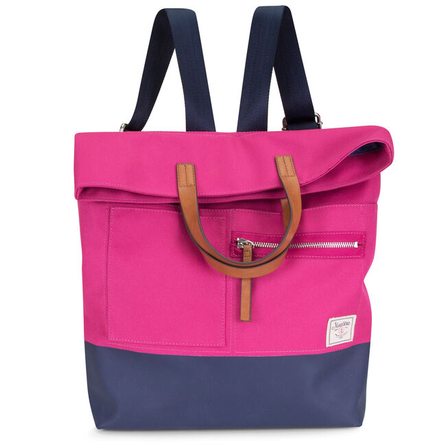 Mainlander Colorblock Backpack,Barely Pink,large