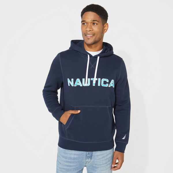 BIG & TALL LOGO PULLOVER HOODIE - Navy