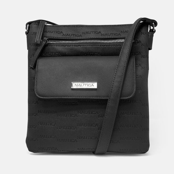KEY LARGO CANVAS CROSSBODY BAG - True Black