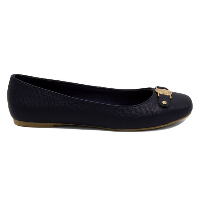 Pembina Faux Leather Ballet Flats in Navy,Navy,large