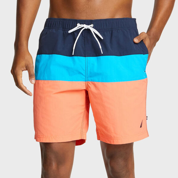 "Big & Tall Anchor Colorblock Swim Shorts - 18"" Outseam - Vibe Orange"