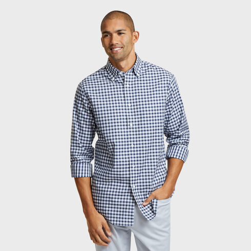 CLASSIC FIT SHIRT IN TEAL PLAID - Admiral Blue