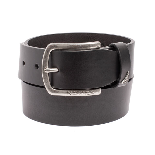 HARNESS BUCKLE LEATHER BELT - True Black