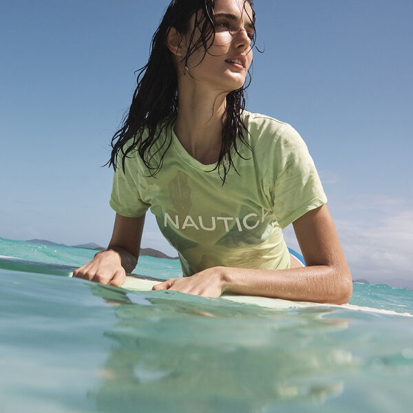 NEON LOGO T-SHIRT - Nantucket Green