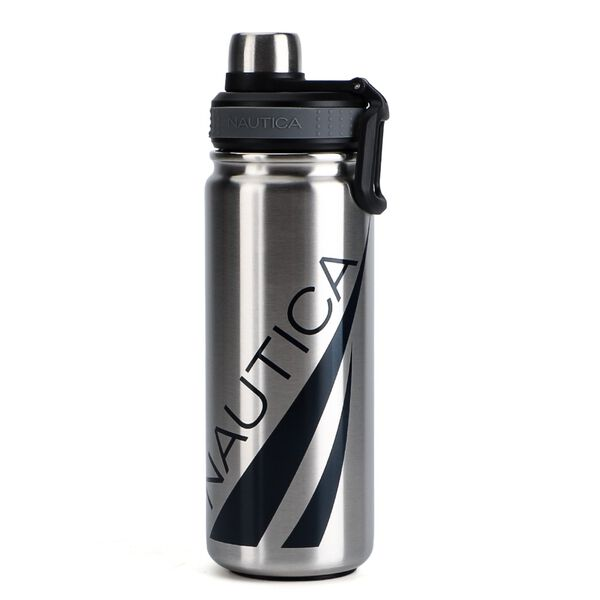 OVERSIZED LOGO DOUBLE-WALLED STAINLESS STEEL BOTTLE - Graphite Heather