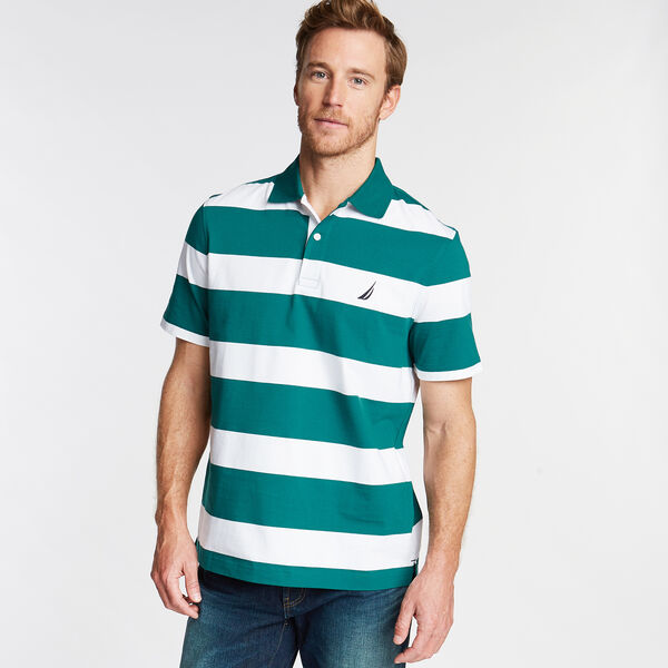 Stripe Classic Fit Polo - Shaded Spruce
