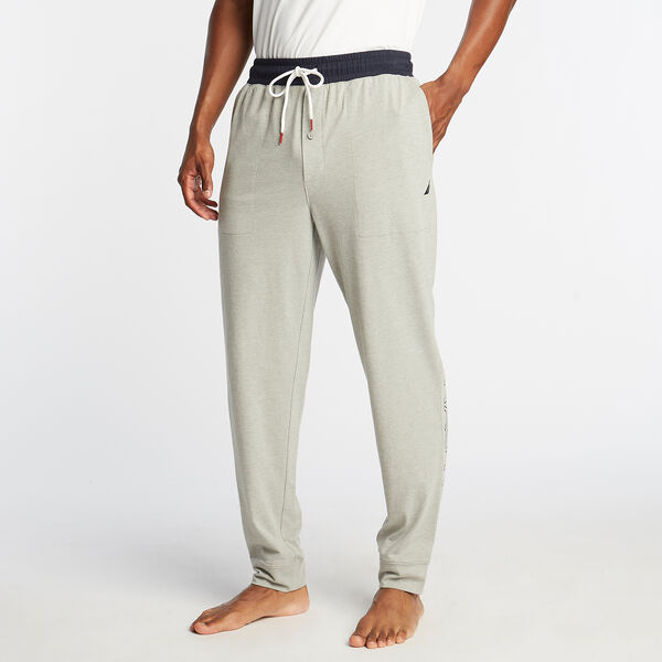 CLASSIC FIT GRAPHIC HERITAGE SLEEP JOGGERS - Grey Heather