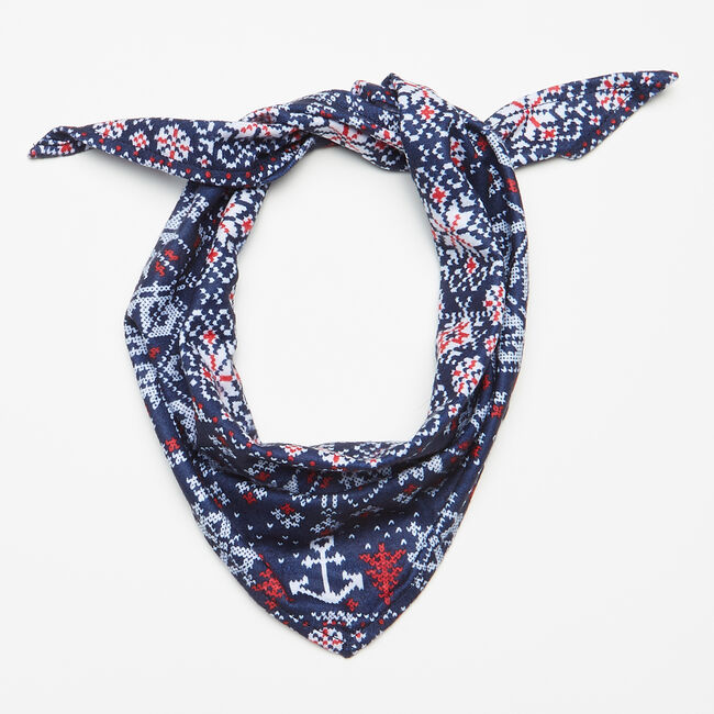 PET FAIR ISLE  BANDANA,Navy,large