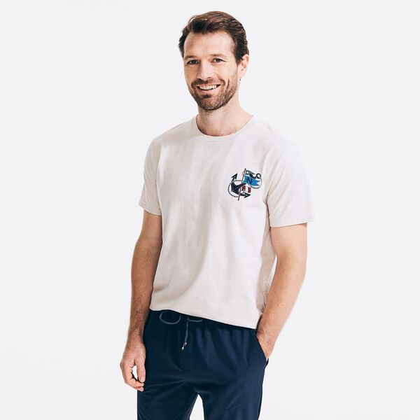 SUSTAINABLY CRAFTED GRAPHIC T-SHIRT - Oatmeal Heather