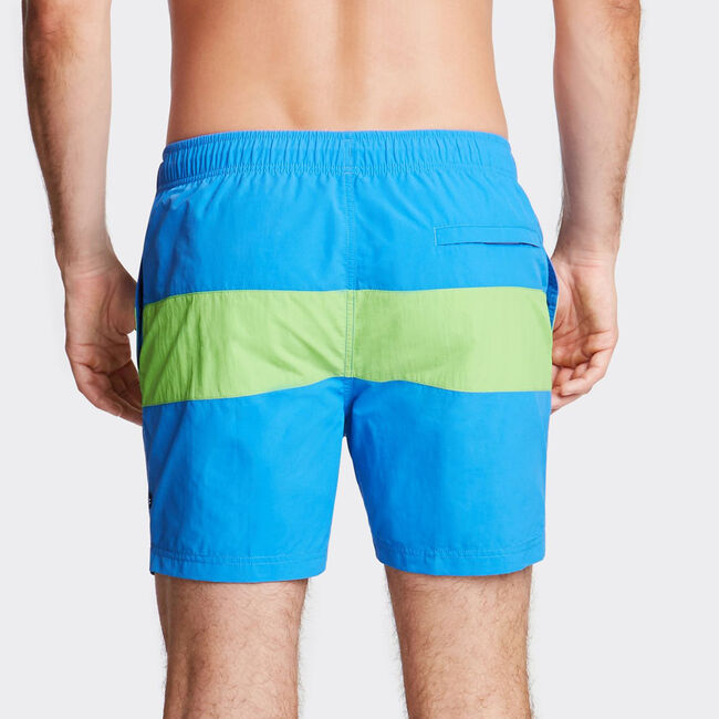 "6"" SWIM TRUNK IN COLORBLOCK,Reef Blue,large"