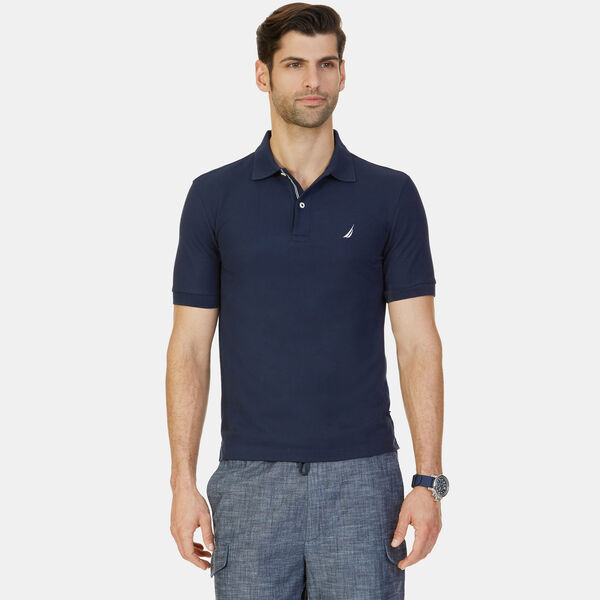 BIG & TALL STRETCH MESH POLO - Pure Dark Pacific Wash