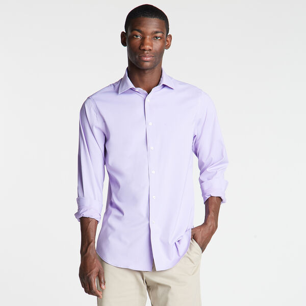 Classic Fit Non-Iron Performance Poplin Shirt - Guppy Grape