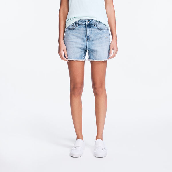 "NAUTICA JEANS CO. 4"" MID-RISE DISTRESSED DENIM SHORT - Lapis"