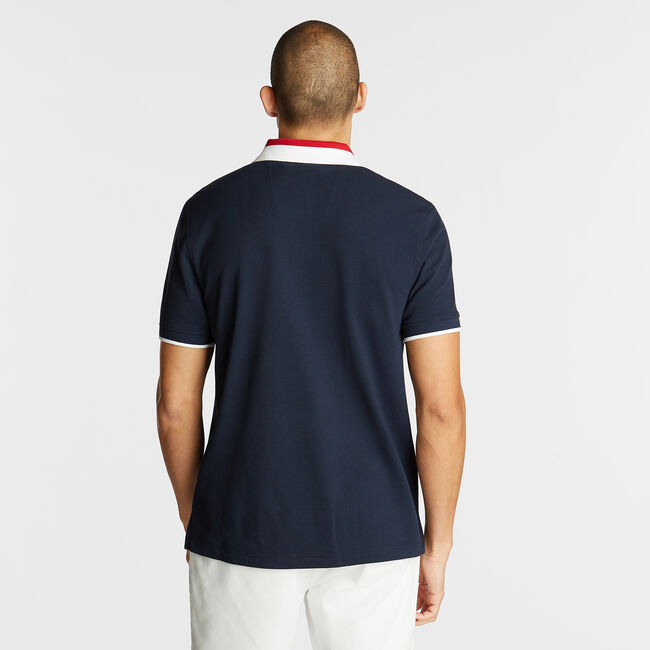 CLASSIC FIT POLO IN COLORBLOCK,Pure Dark Pacific Wash,large