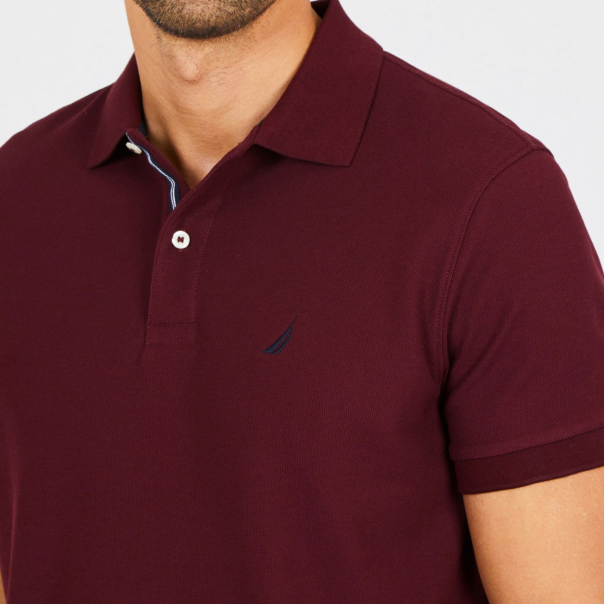 718e2178 Big & Tall Short Sleeve Classic Fit Stretch Deck Polo - Fuchsia, 3XL |  Nautica