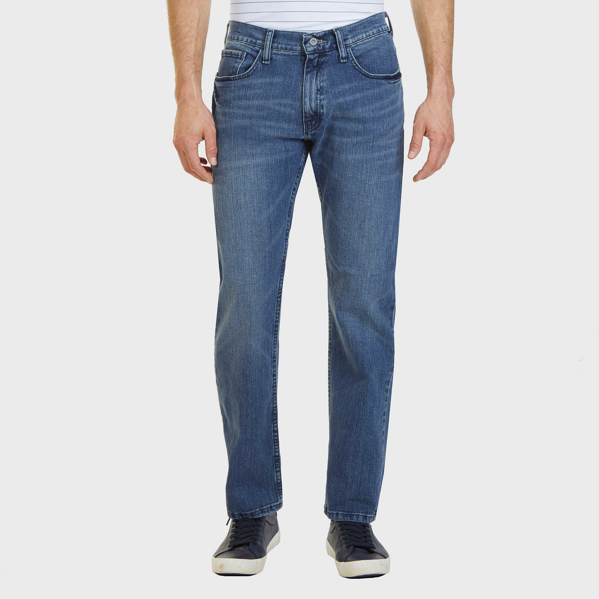 Nautica Mens 5-Pocket Stretch Jeans With Tapered Leg