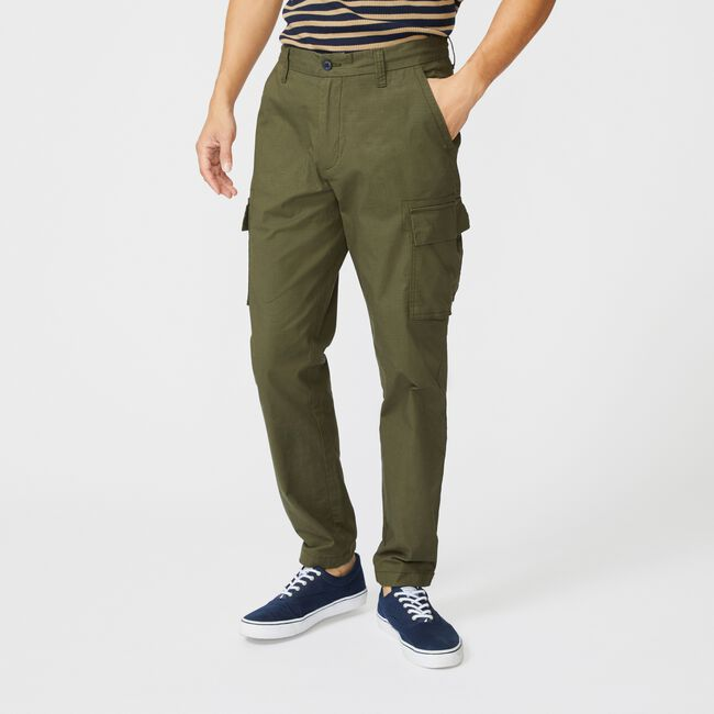 RIPSTOP CARGO PANT,Olive,large