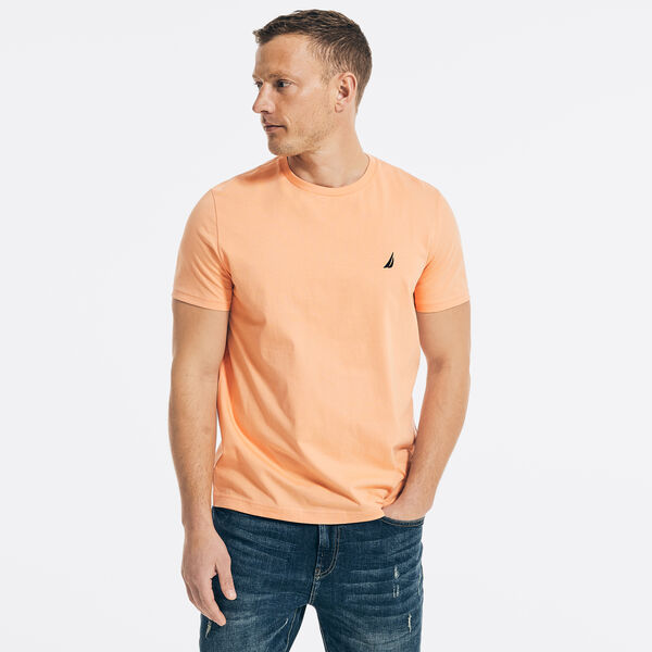 SOLID CREW NECK T-SHIRT - Orange