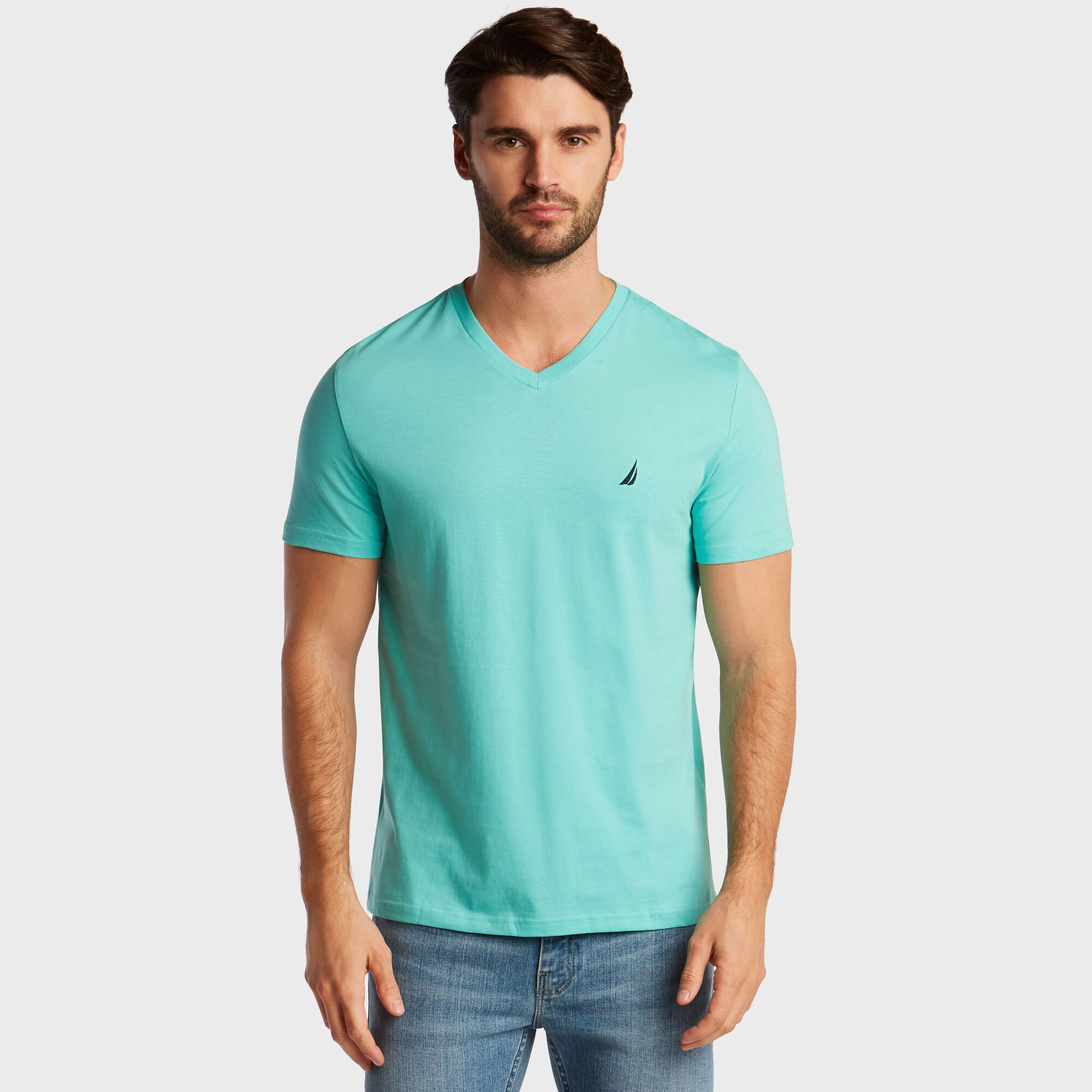 Nautica-Mens-V-Neck-Short-Sleeve-T-Shirt thumbnail 47