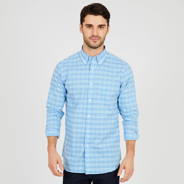 Long Sleeve Iron-Free Gingham Classic Fit Shirt - Flipper Jade