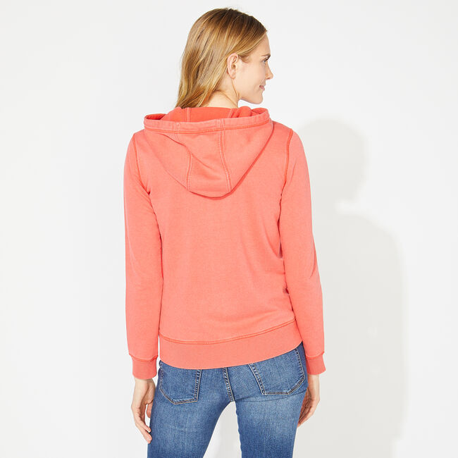 NAUTICA JEANS CO. GRAPHIC LOGO HOODIE,Dark Coral Cape,large