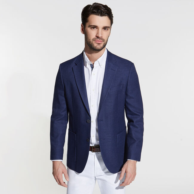 Jensen Jacket in Navy,Tugboat Blue,large