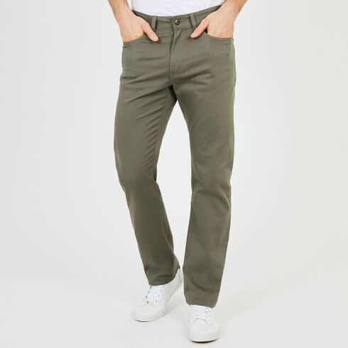 Straight Fit 5-Pocket Pants - Hillside Olive