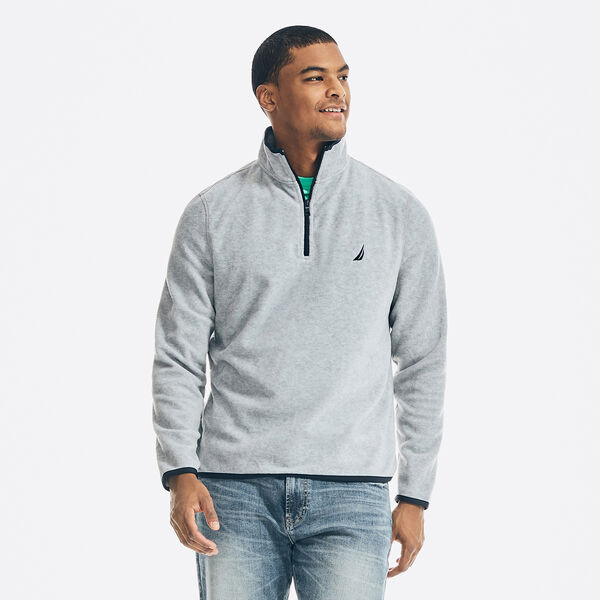 NAUTEX PERFORMANCE QUARTER-ZIP PULLOVER - Grey Heather
