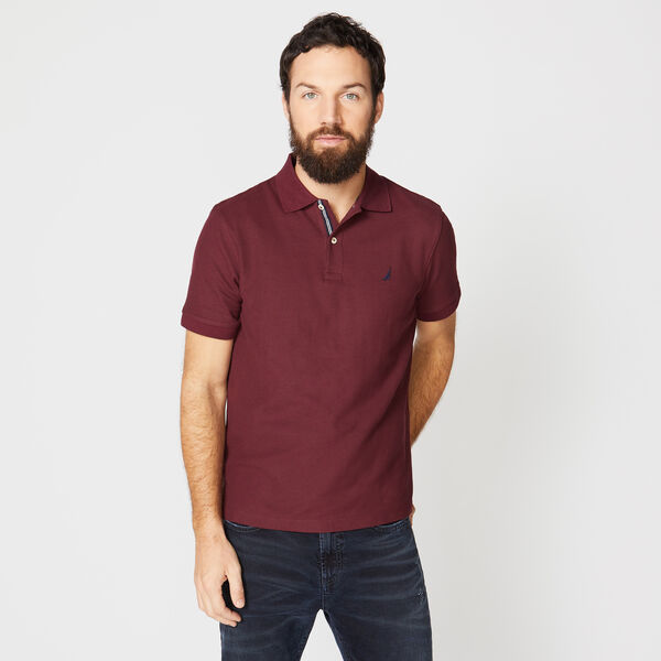 CLASSIC FIT PERFORMANCE MESH POLO - Royal Burgundy