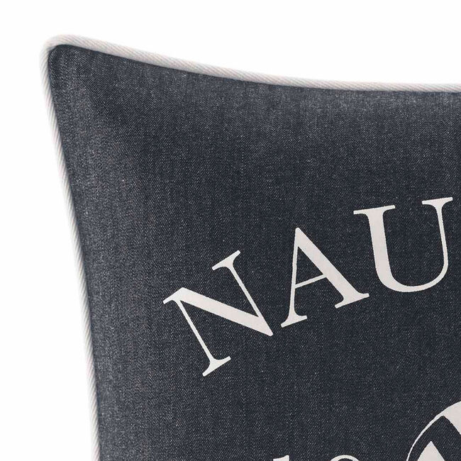 Heritage Square Throw Pillow,Navy,large