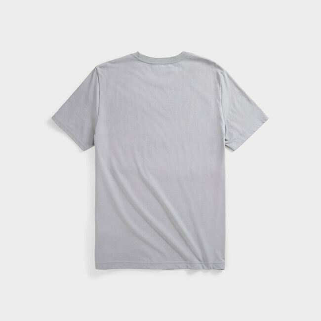 SUSTAINABLY CRAFTED VERTICAL LOGO GRAPHIC T-SHIRT,Grey Alloy,large