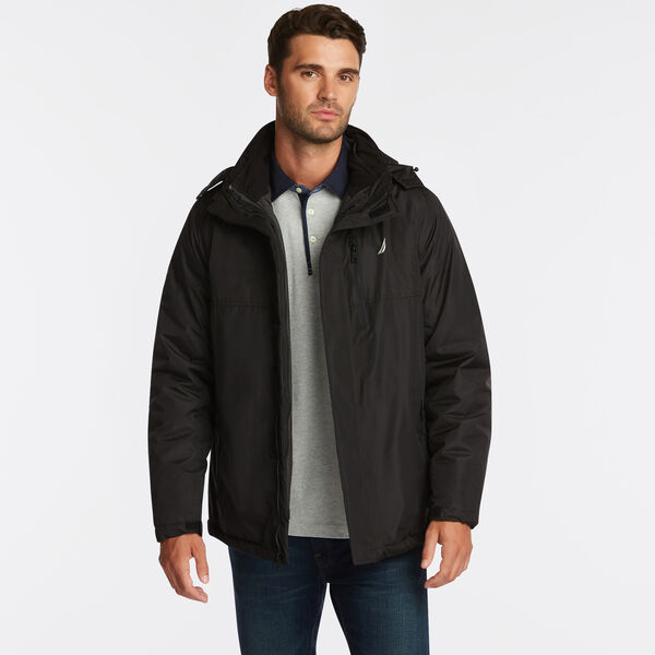 BIG & TALL 3-IN-1 ALL WEATHER JACKET - Black