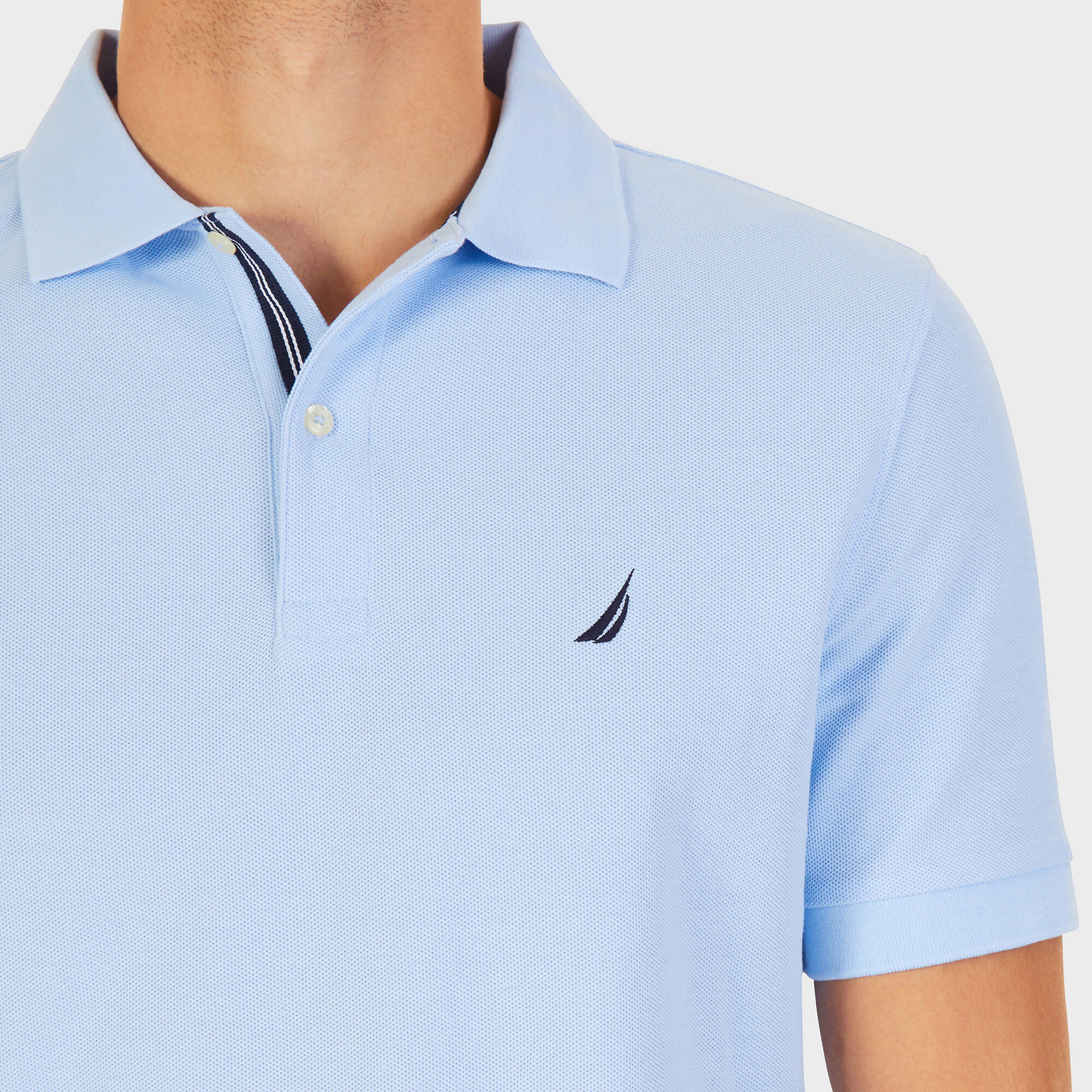 Clothing, Shoes & Accessories Polo Sport Blue Spell Out Polyester Drivent Performance Shirt Size Medium Wide Selection;