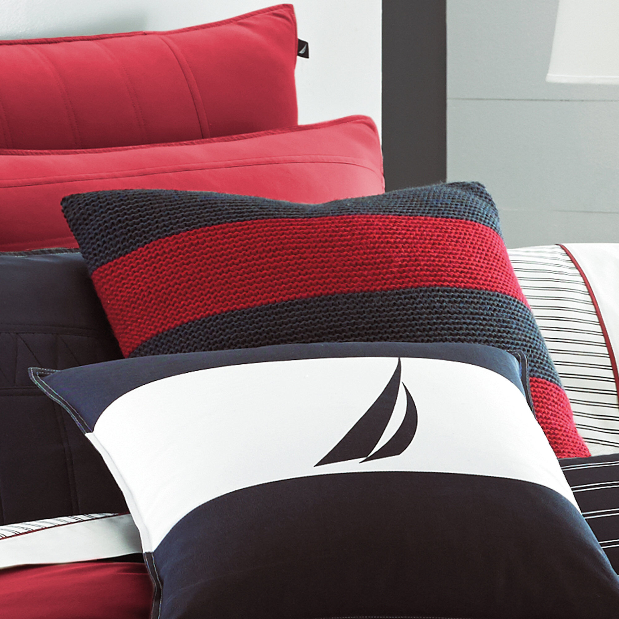 Nautica Mainsail Striped Sweater-Knit Throw Pillow