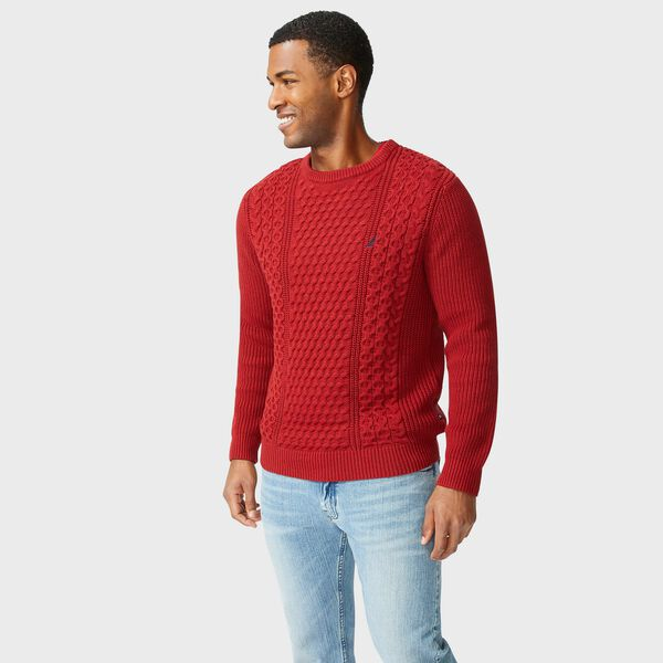 CLASSIC FIT CABLE KNIT SWEATER - Lotus