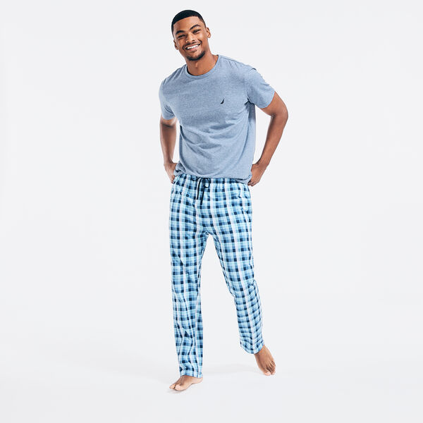PLAID PAJAMA SET - Anchor Blue Heather