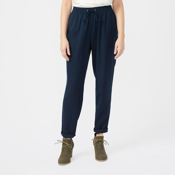 SUSTAINABLY CRAFTED ELASTIC-WAIST PANT - Stellar Blue Heather