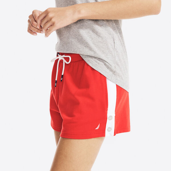 """4"""" SUSTAINABLY CRAFTED SIDE-STRIPE SHORT - Tomales Red"""