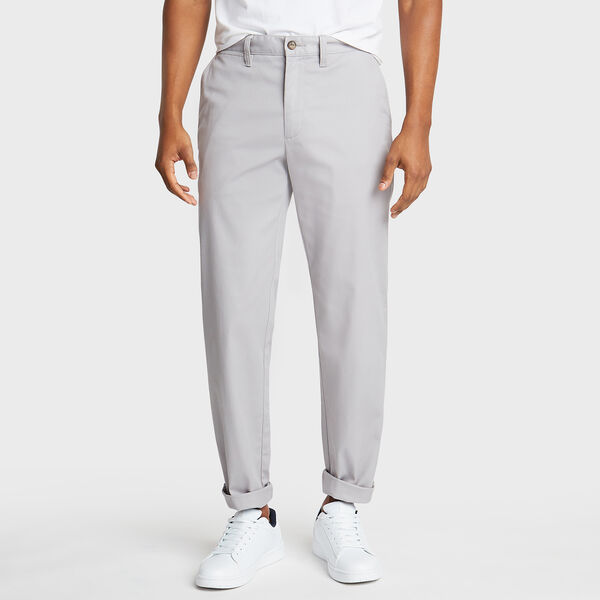 Classic Fit Flat Front Pant - Ocean/Graphite Heather