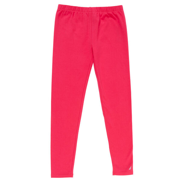 Girls' Solid Leggings - Multi Pink